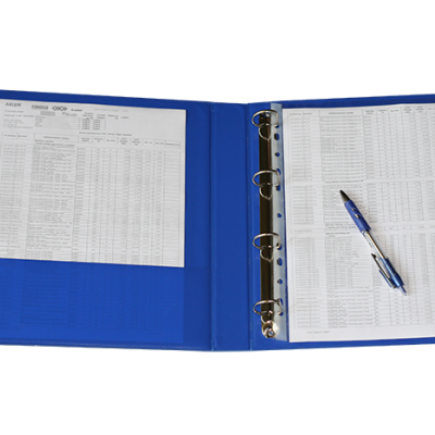 Папки-реєстратори з кільцевим механізмом