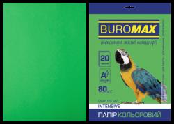 Папір кольоровий А4, 80г/м2, INTENSIV, зелений, 20арк.
