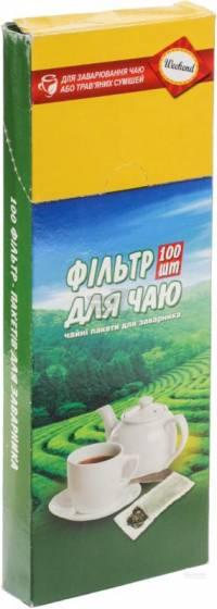 Фільтр-пакети для заварювання чаю 100шт для чайника  картон