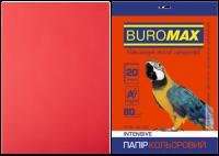 Папір кольоровий А4, 80г/м2, INTENSIV, червоний, 20арк.