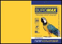 Папір кольоровий А4, 80г/м2, INTENSIV, жовтий, 20арк.
