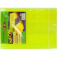 Обкладинка для підручника NEON з клапаном 250*420мм, PVC, жовта