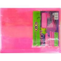 Обкладинка для підручника NEON з клапаном 250*420мм, PVC, рожева