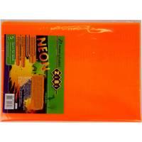 Обкладинка для підручника NEON з клапаном 250*420мм, PVC, помаранчова