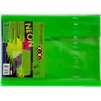 Обкладинка для підручника NEON з клапаном 250*420мм, PVC, салатова