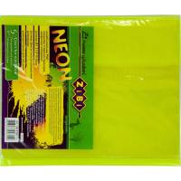 Обкладинка для зошитів NEON А5 з клапаном, PVC, жовта