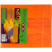 Обкладинка для зошитів NEON А5 з клапаном, PVC, помаранчова