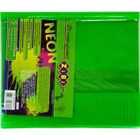 Обкладинка для зошитів NEON А5 з клапаном, PVC, салатова